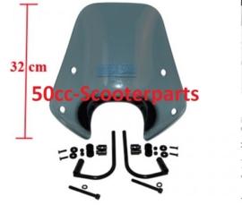 Windscherm laag + bevestigingsset Piaggio Zip smoke origineel 672481