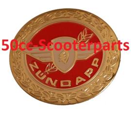 Sticker zundapp logo rond rood / goud z440-20.100/ r  10010034