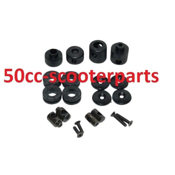 Bevestigingsset zwart windscherm rubbers et2-4 lx Zip 445809