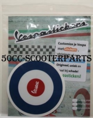 Sticker Vespa Tricolore  rond target lx S lxv rood-wit-blauw 41748