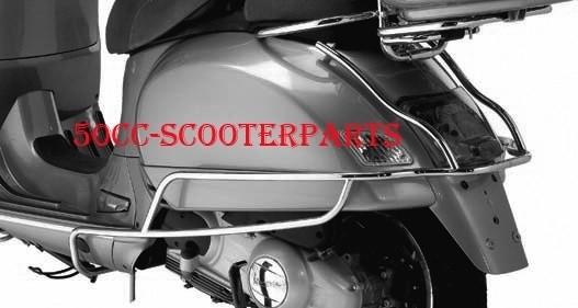 Valbeugels achter Vespa GTS / GTV /  GT chrome origineel 602960M