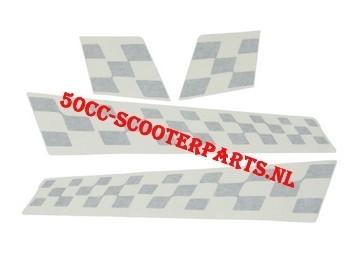 Stickerset Sport Vespa S mat zwart 85-B origineel 67327700a2