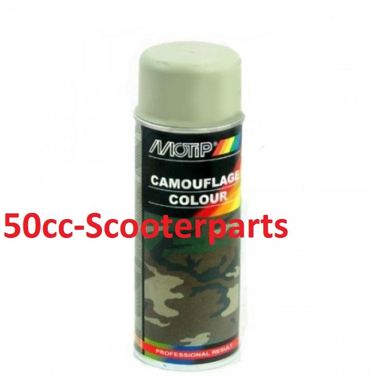 Spuitbus Army grijs 400ml Motip M4204