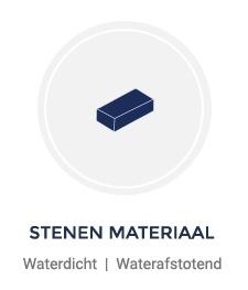 Waterdicht maken steenachtige materialen