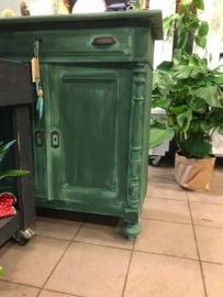 groen kastje vintage VERKOCHT