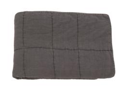 Plaid charlotte Dark grey 170x220 cm