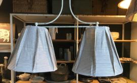 Hanglamp dubble streep blauw wit