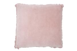 Velvet linnen kussenRosie old pink 45x45