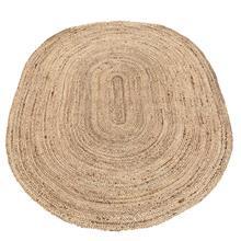 Vloerkleed jute naturel ovaal 90x120 cm