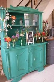 Kast zeegroen/turquoise verkocht