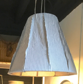 Hanglamp streep blauw/wit Large