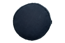 Linnen kussen rond midnight blue diameter 40 cm