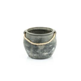 Oude chinese pot met touw