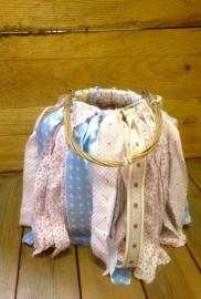 Lantaarn babyblue/pink