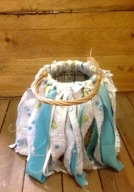 Lantaarn turquoise/white