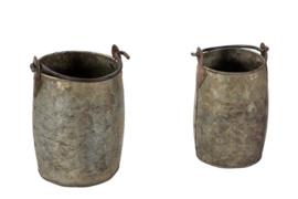 iron planter set 2 stuks