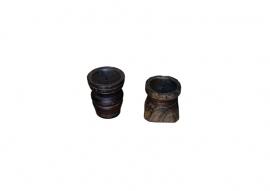 Vintage houten kandelaars 455-KAN11