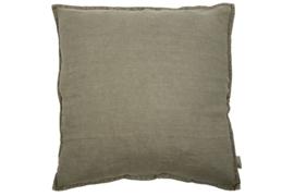 Kussen Linnen olive grey 60x60 cm