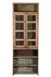 Oud Indische open glaskast