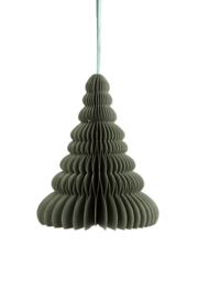 Kerstboom Papier Small Forest green