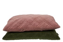 Velvet kussen jade moss old pink 60x50 cm
