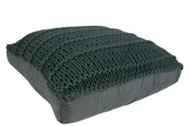 Floor cushion dark green 60x60