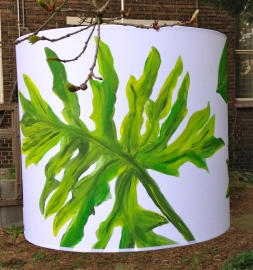 Handpainted lamp Monstera