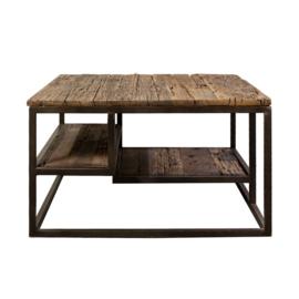 Salontafel hout metaal vierkant 70x70 cm