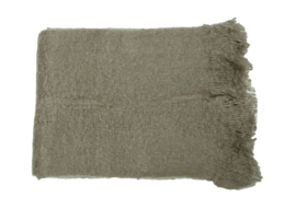 Plaid gebreid olive grey 150x220 cm