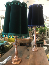 Fluwelen lampenkap green vintage small