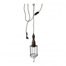 ijzer hout hanglamp
