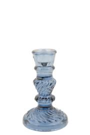 Kandelaar Glas Limoges faded Blue M