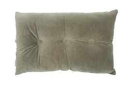 Kussen velvet Jacky olive grey 40x60