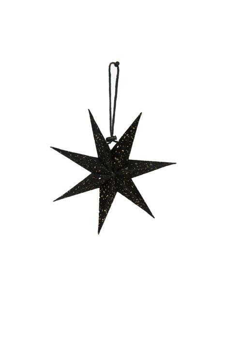 Kerstster Velvet Black gold S