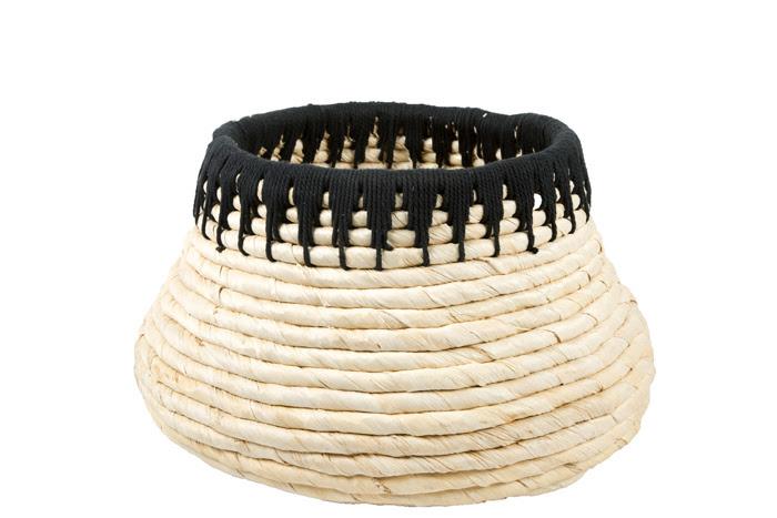 Basket Toledo Naturel/black M