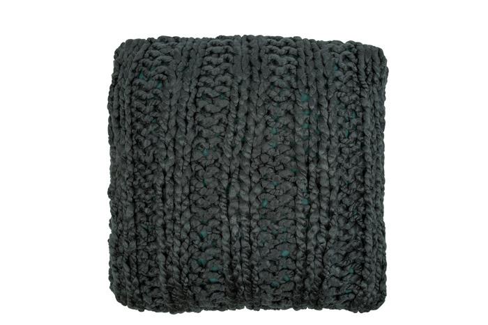Kussen Bourges dark green 45x45 cm
