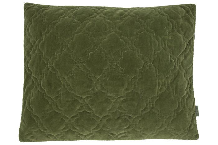 Velvet kussen jade moss green 60x50 cm
