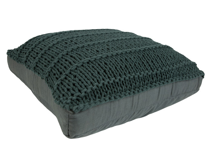 Floor cushion dark green 60x60