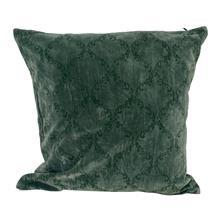 Kussen 50x50 fluweel groen met print