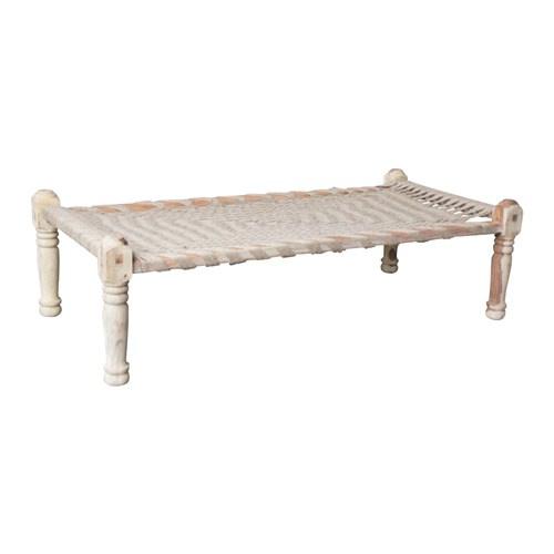 Houten gevlochten touw bed