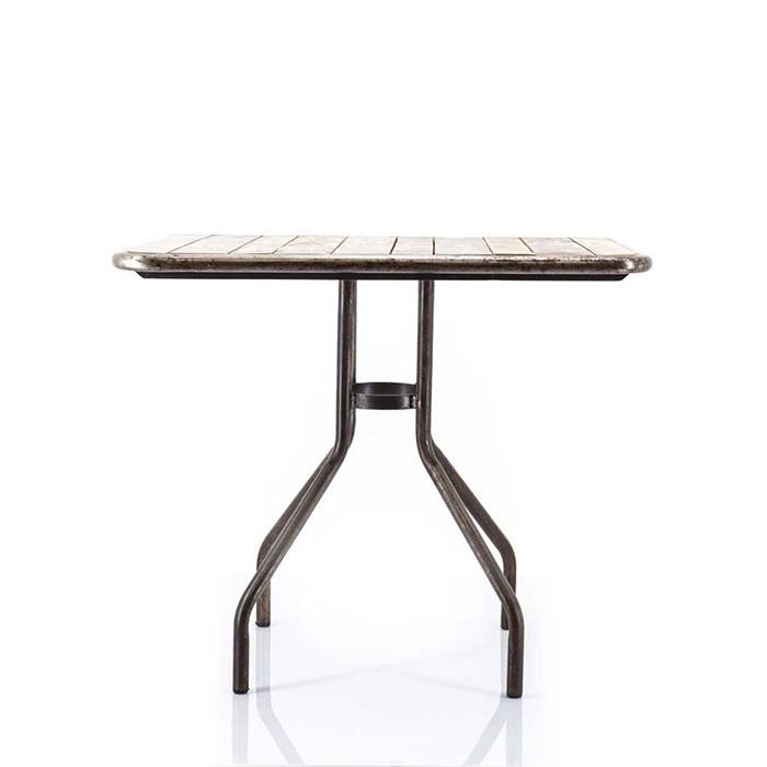 eettafel scrap wood  80x80 cm
