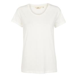 Dames T-Shirt     Rebekka - White   Basic Apparel