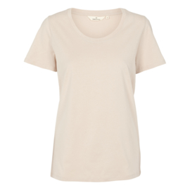 Dames T-Shirt     Rebekka - Sand   Basic Apparel