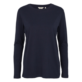 Dames LS T-Shirt  | Rikke - Navy | Basic Apparel