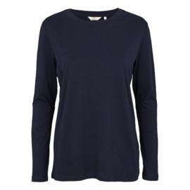 Dames LS T-Shirt    Rikke - Navy   Basic Apparel