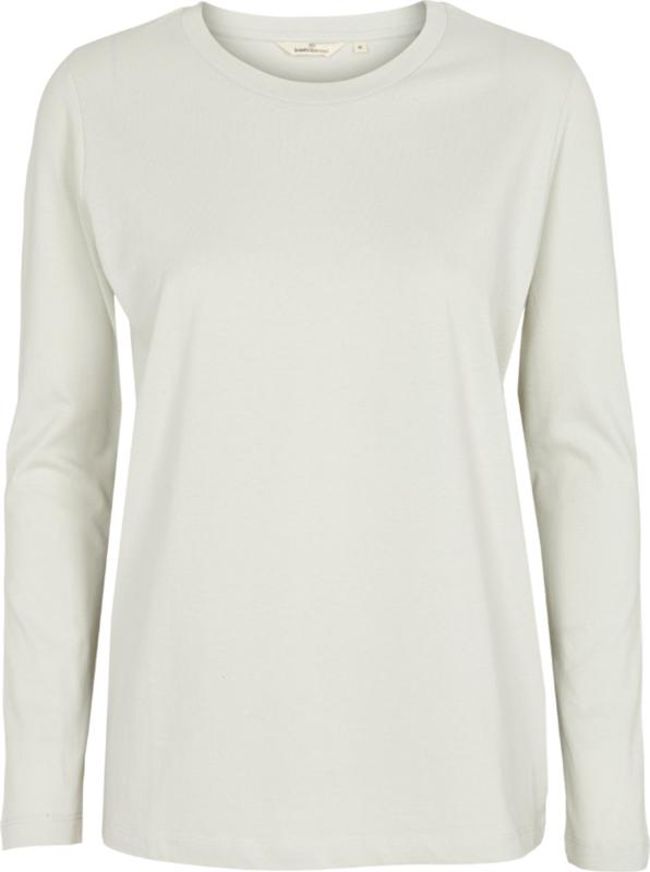Dames LS T-Shirt  | Rikke - Oyster Grey | Basic Apparel