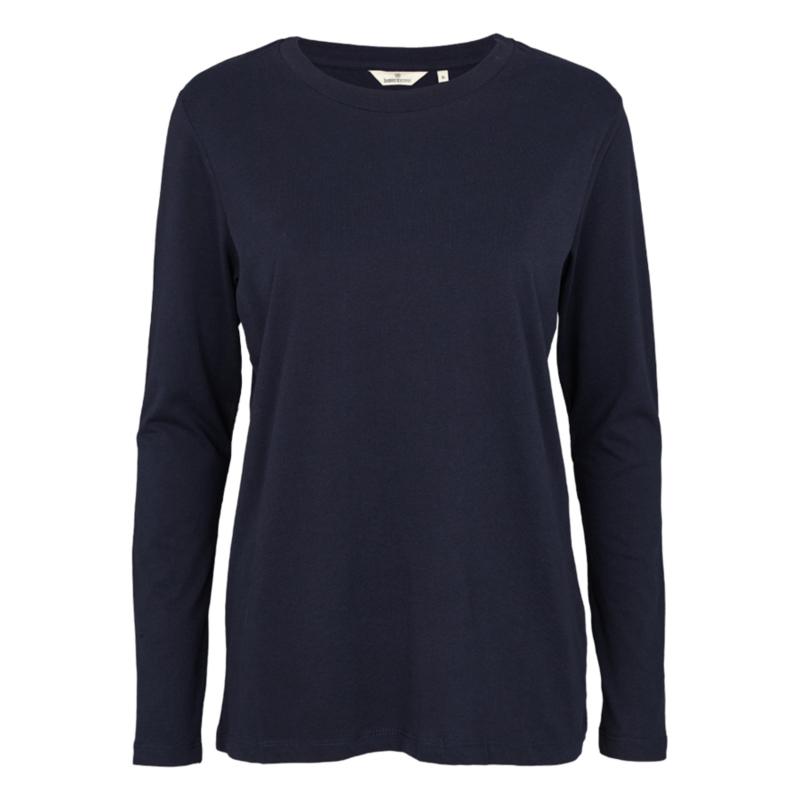 Dames LS T-Shirt  | Rikke - Navy | Basic Apparel