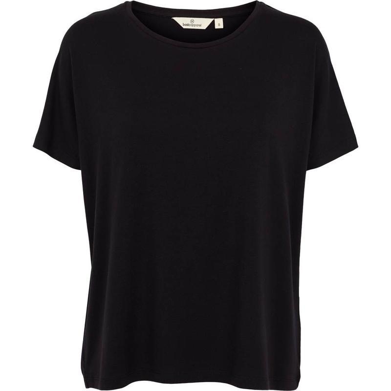 Dames T-Shirt     Joline - Black   Basic Apparel