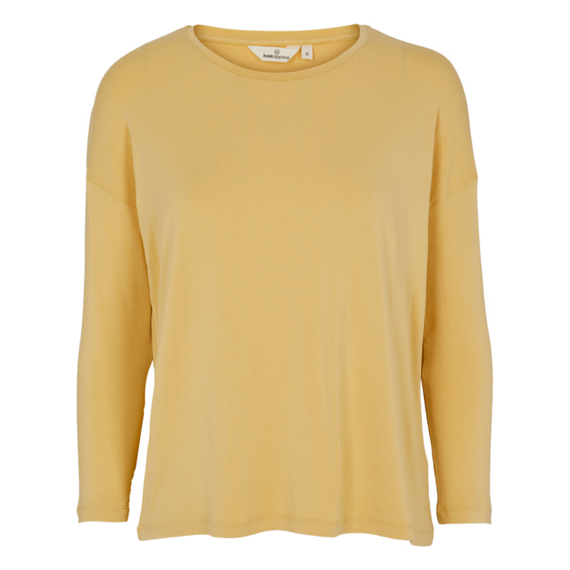 Dames LS T-Shirt  | Joline - Straw | Basic Apparel