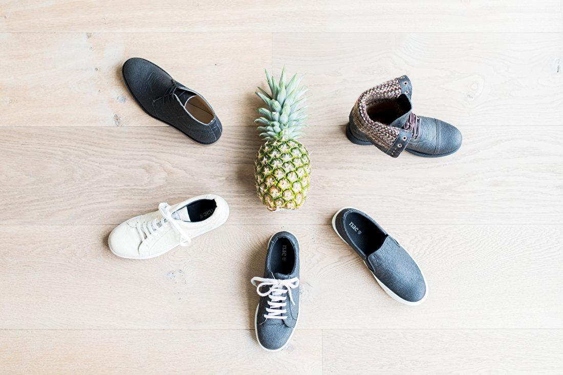 Schoenen van ananas